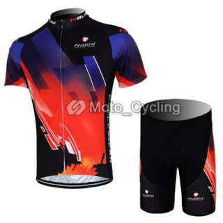 2012 New Red&Black Cycling Bicycle Bike Comfortable Jersey + Shorts M