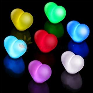 Heart Shaped Romantic Blue Red Green Color LED Light Lamp Decoration