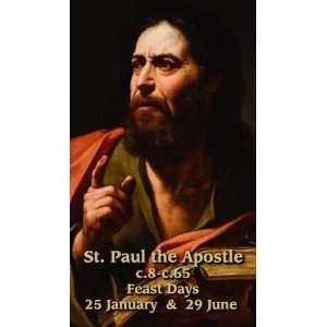 Saint Paul the Apostle Holy Prayer Card Wallet Size 2 x 3