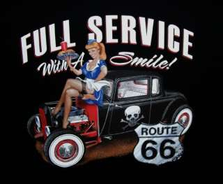GearHead Full Service Rat Rod Hot Rod PinUp car T shirt