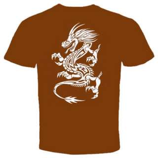 Dragon white tattoo chinese asian New T shirt MMA UFC