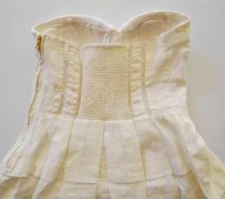 LEIFSDOTTIR Anthropologie Raime Dress 8 M UK 10 NWT $348 Bustier Ivory