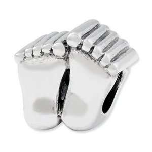 Sterling Silver Reflections Big Feet Bead: Jewelry