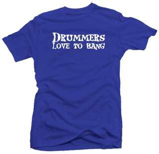 Drummer Bang Funny Drum Band New Rock Band T shirt