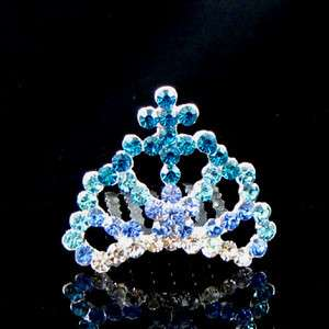 ADDL Item  Austrian rhinestone mini crown hair comb