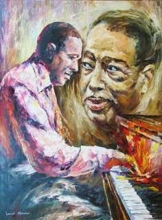 Duke Ellington Original Signed Painting Canvas COLORFUL