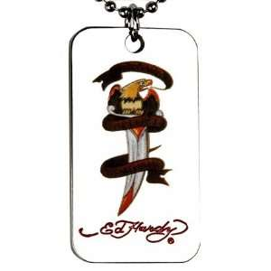 Ed Hardy Death Before Dishonor Dog Tag   EHDT14S CJ: Pet