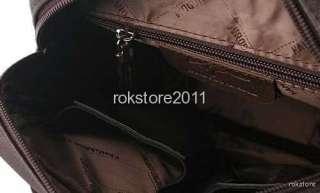 Kangaroo Mens Leather Shoulder Messenger Bag Briefcase