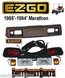 EZGO 1988 1994 Marathon Golf Cart HEAD & TAIL LIGHT Kit w/New Cowl