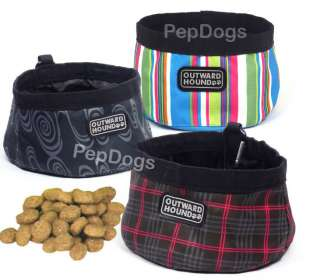 Outward Hound FASHION Pet Portable COLLAPSIBLE Camping TRAVEL BOWL