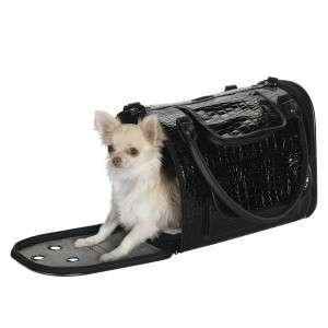 Zack & Zoey Croc Pet Dog Carrier Travel Bag SM Black
