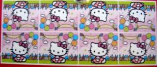 HELLO KITTY PARTY 6 plates, cups, hats, favor bags, ptc