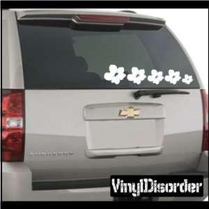 Set Hawaiian Flower Stick People Car or Wall Vinyl Decal Stickers