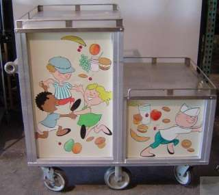 Servo Lift 2010 Stainless Steel Food Warmer & Storage Cart with Shelf