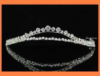 AUSTRIAN RHINESTONE TIARA CROWN BRIDAL WEDDING PROM PARTY JEWELRY T511
