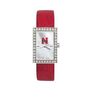com Nebraska Cornhuskers Ladies NCAA Starlette Watch (Leather Band