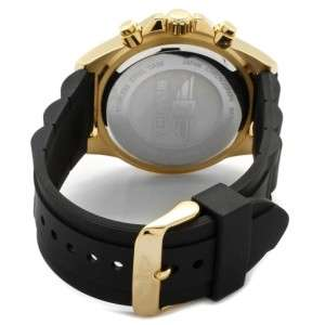 by Invicta 10015 003 Gold Dial 18K Rose Gold Plated Silicone Strap