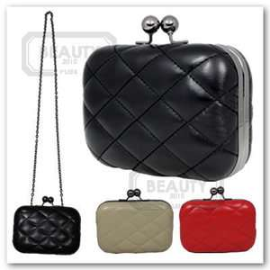 Leather Lady Fashion Classic Party Clutch Shoulder Handbag Bag Box
