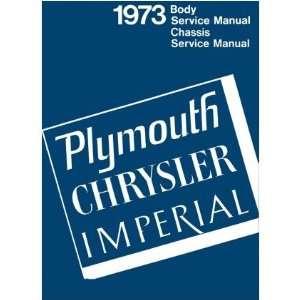 1973 CHRYSLER PLYMOUTH Shop Service Repair Manual Book