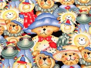 New Teddy Bears Fabric BTY Toy Animal Baby Nursery Frog