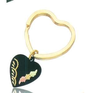 10k Yellow gold Black Hills Gold Heart Shape Key Ring