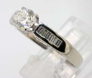 10000 QUALITY VVS DIAMOND 18K WHITE GOLD ENGAGEMENT RING 1.02C