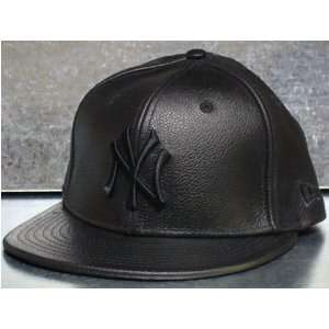 New Era Cap Fitted New York Yankees Leather Black Sports