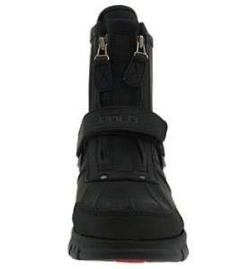 POLO RALPH LAUREN CONQUEST HI II MENS BLACK LEATHER CASUAL WINTER