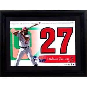 UD Jersey #s 2004 AL MVP Vladimir Guerrero Angels
