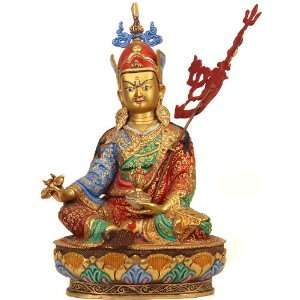Guru Rinpoche (Padmasambhava)   Copper Sculpture Gilded
