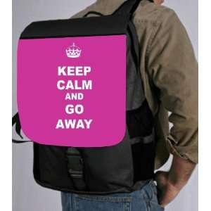 Keep Calm or Go Away   Pink Rose Color Back Pack   School