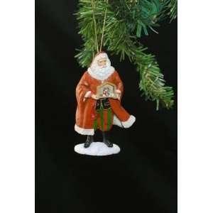 Santa Holding Nativity Ornament   Precious Moments