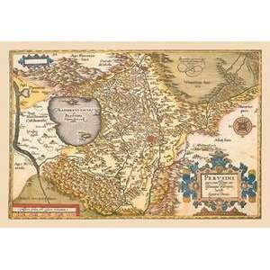 Vintage Art Map of Italy Near Florence   09061 8: Home