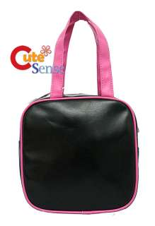 Sanrio Hello Kitty Pink Black Leather Purse Hand Bag