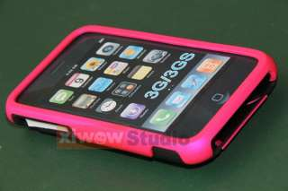 NEW Hot pink 3PIECE HARD CASE COVER FOR IPHONE 3G 3GS