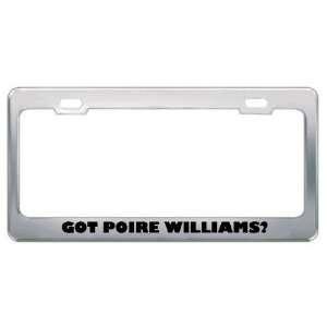 Got Poire Williams? Eat Drink Food Metal License Plate Frame Holder