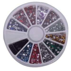 Pcs Stars Nail Art Nailart Manicure Glitter Tips Rhinestone Wheel Kit