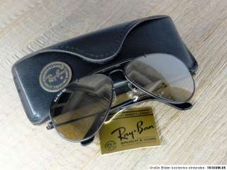 VINTAGE RAY BAN B&L USA 62mm THE GENERAL BLACK   MIRRORED GOLD LENSES