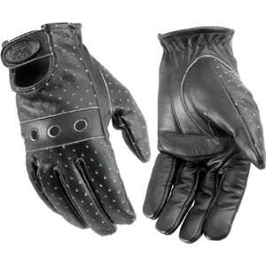 River Road Swindler Distressed Mens Leather Touring Motorcycle Gloves