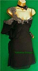 New KAREN MILLEN £165 Black Silk Embellished Lace DRESS