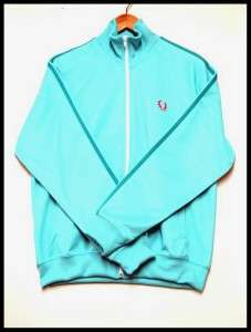 FRED PERRY Twin Tape Track Jacket Turquois Blue Sz L