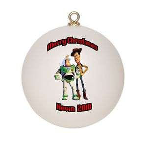 Personalized Buzz & Woody Christmas Ornament