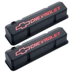 Proform 141 928 Chevrolet & Bowtie Emblem Die Cast Valve Covers, Slant