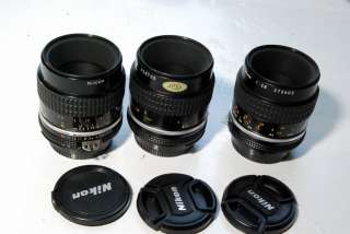 Nikon 55mm f2.8 lens micro Nikkor Ai S macro 12 manual focus