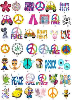 PEACE HIPPIE GROOVY LOVE Return Address Label Favor Tag BUY 3 GET 1