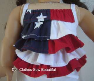 DOLL CLOTHES fits American Girl Patriotic Shorts Set!!!