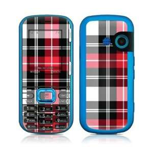 Red Plaid Design Protective Skin Decal Sticker for LG