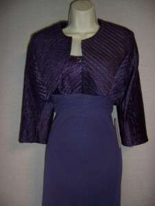 PATRA Light Purple Chiffon Beaded Formal Gown Dress Jacket 10 NWT