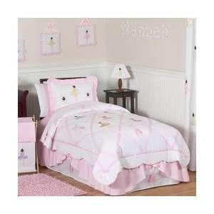 Ballerina 4 Piece Twin Comforter Set   Girls Bedding: Home