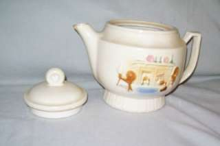 OLD PORCELIER HEARTH Fireplace COFFEE TEA POT w/ LID VITREOUS China 4
